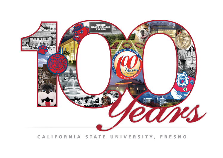 Fresno State Centennial Collage Card